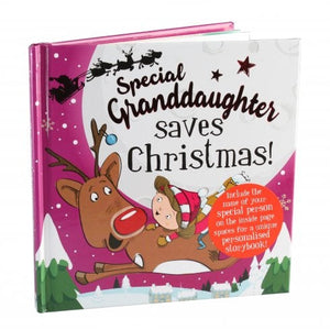 Christmas Storybook - Santa saves Christmas (Special Granddaughter)