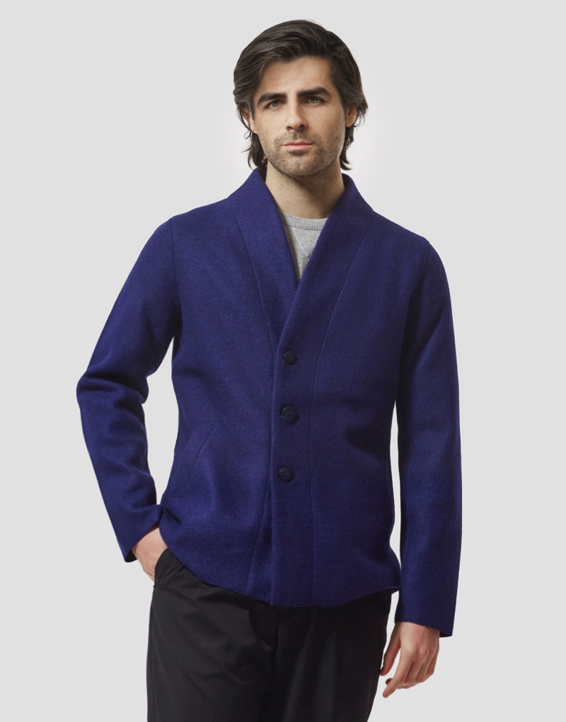 Blue Men's Coat
