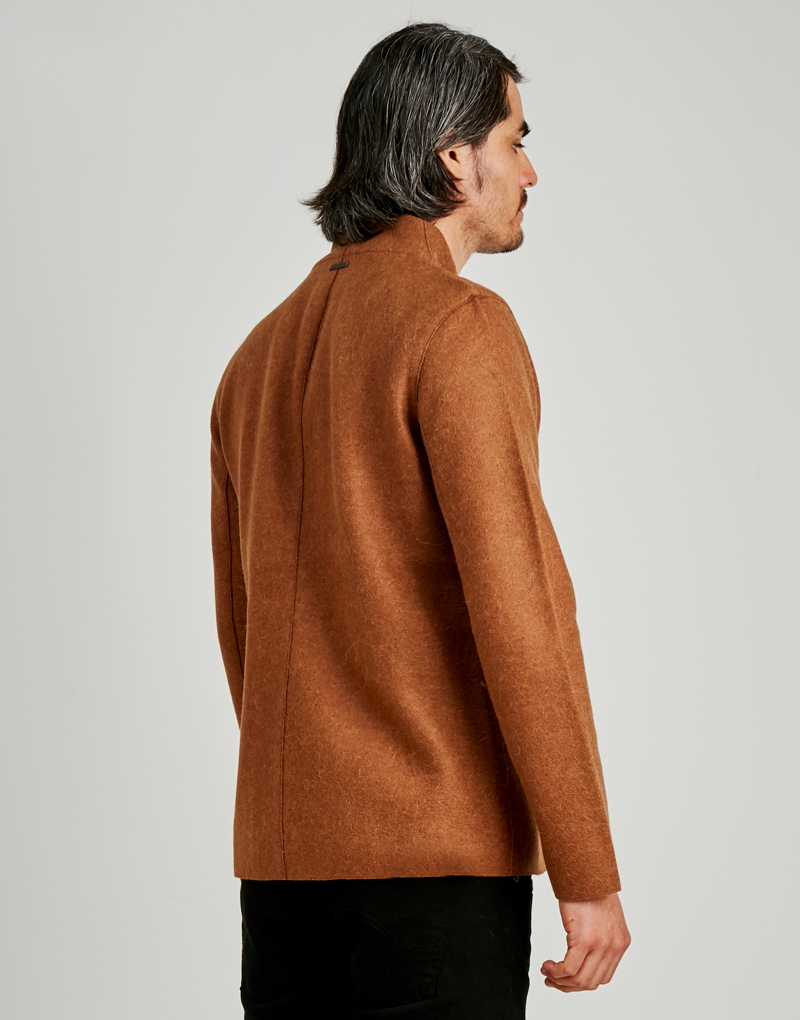 Beige Men's Alpaca Coat