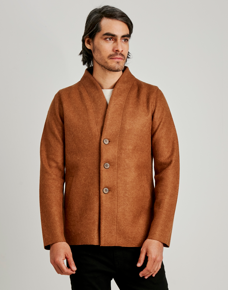 Alpaca wool men's coat