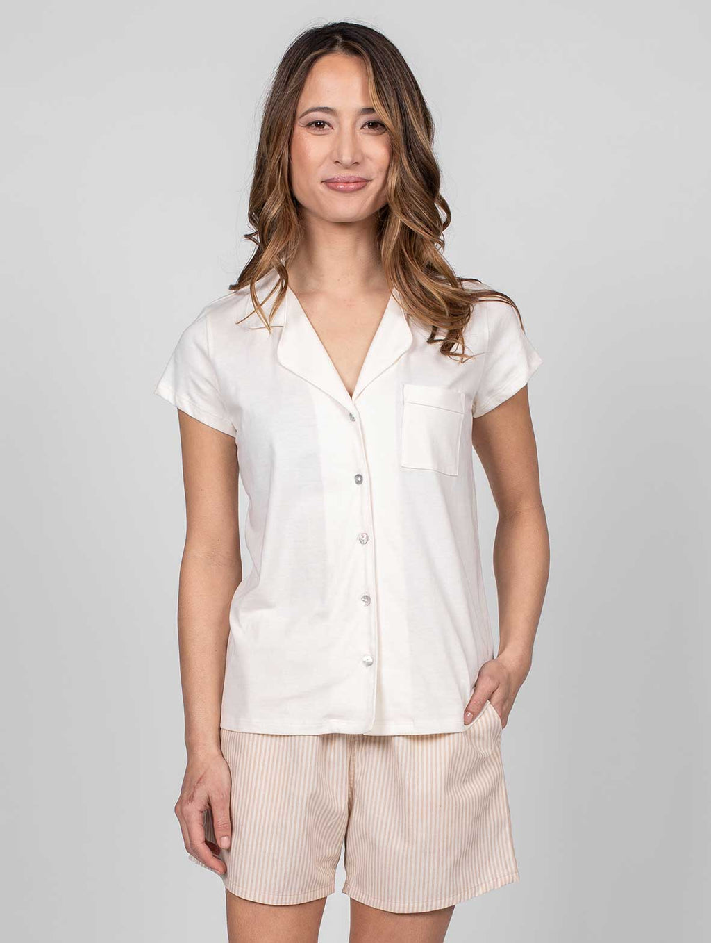 Organic Cotton Pajama Blouse