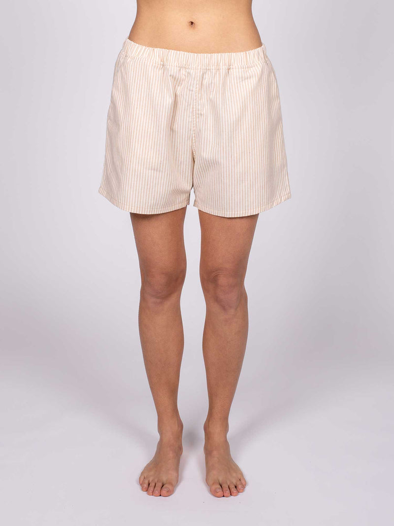 Organic Cotton Striped Pajama Shorts