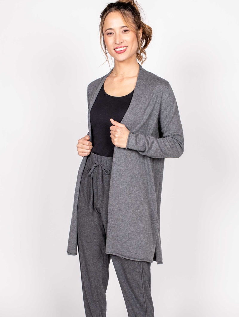 Relaxed Open Front Cardigan