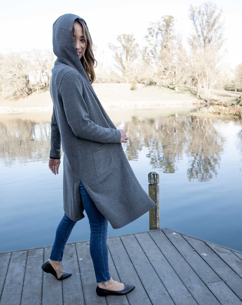 Relaxed Hooded Cardigan
