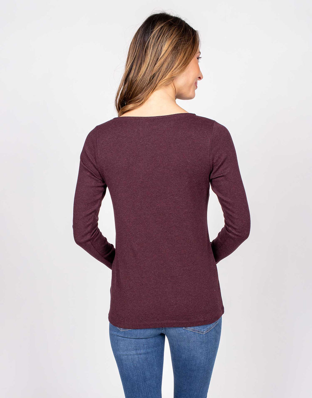 Organic Cotton Long-sleeved Boatneck Tee