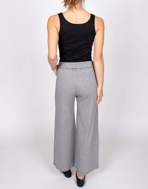 Organic Cotton Cropped Wide Leg Pant