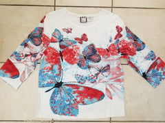 Butterfly - 3/4 Sleeve Embellished Tee
