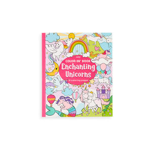 Colour-in Book - Enchanting Unicorns Colouring Book