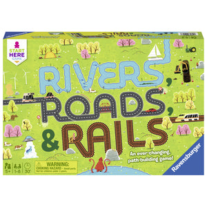 Rivers, Roads & Rails Board Game