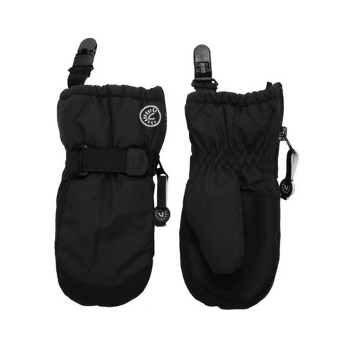 Calikids Waterproof Mittens with Clips - Black