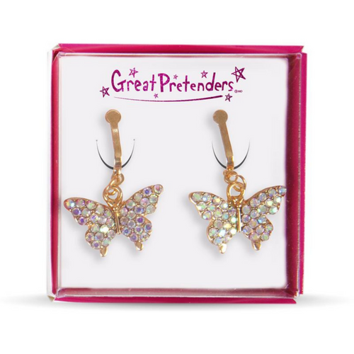 Clip On Earrings - Gem Butterflies