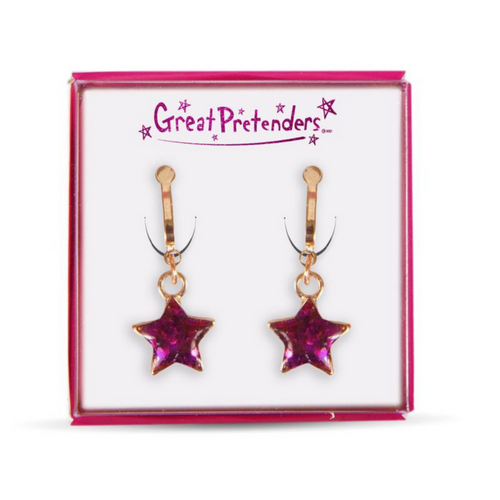 Clip On Earrings - Glittering Stars