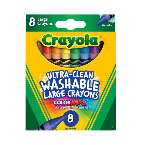 Crayola - Crayons - 8 pack Ultra-Clean Washable Large Size Crayons