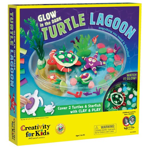 Creativity For Kids - Glow in the Dark Turtle Lagoon Craft Kit