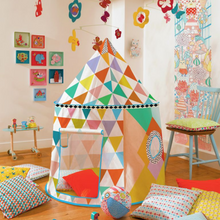 Load image into Gallery viewer, Djeco - Multi Coloured Playhouse Tent