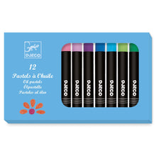 Load image into Gallery viewer, Djeco - Oil Pastels - 12 Pack Classic Colours