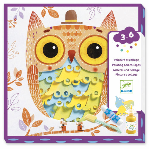 Djeco - Paint and Collage Art Kit - Oh It's Fantastic