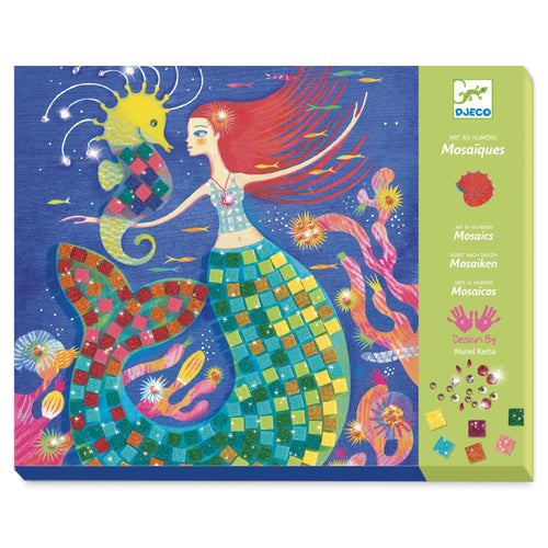 Djeco - Sticker Mosaic - The Mermaids Song Art Kit