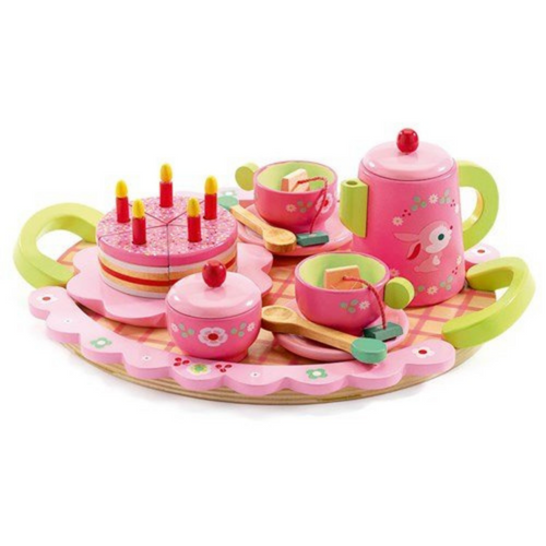 Djeco Wooden Tea & Cake Set - Lili Rose
