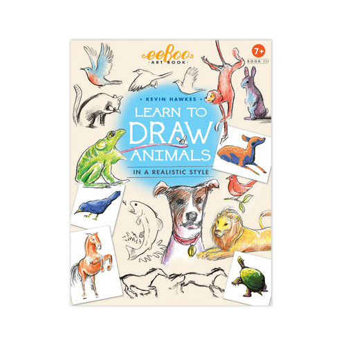 Eeboo - Learn to Draw Book - Animals
