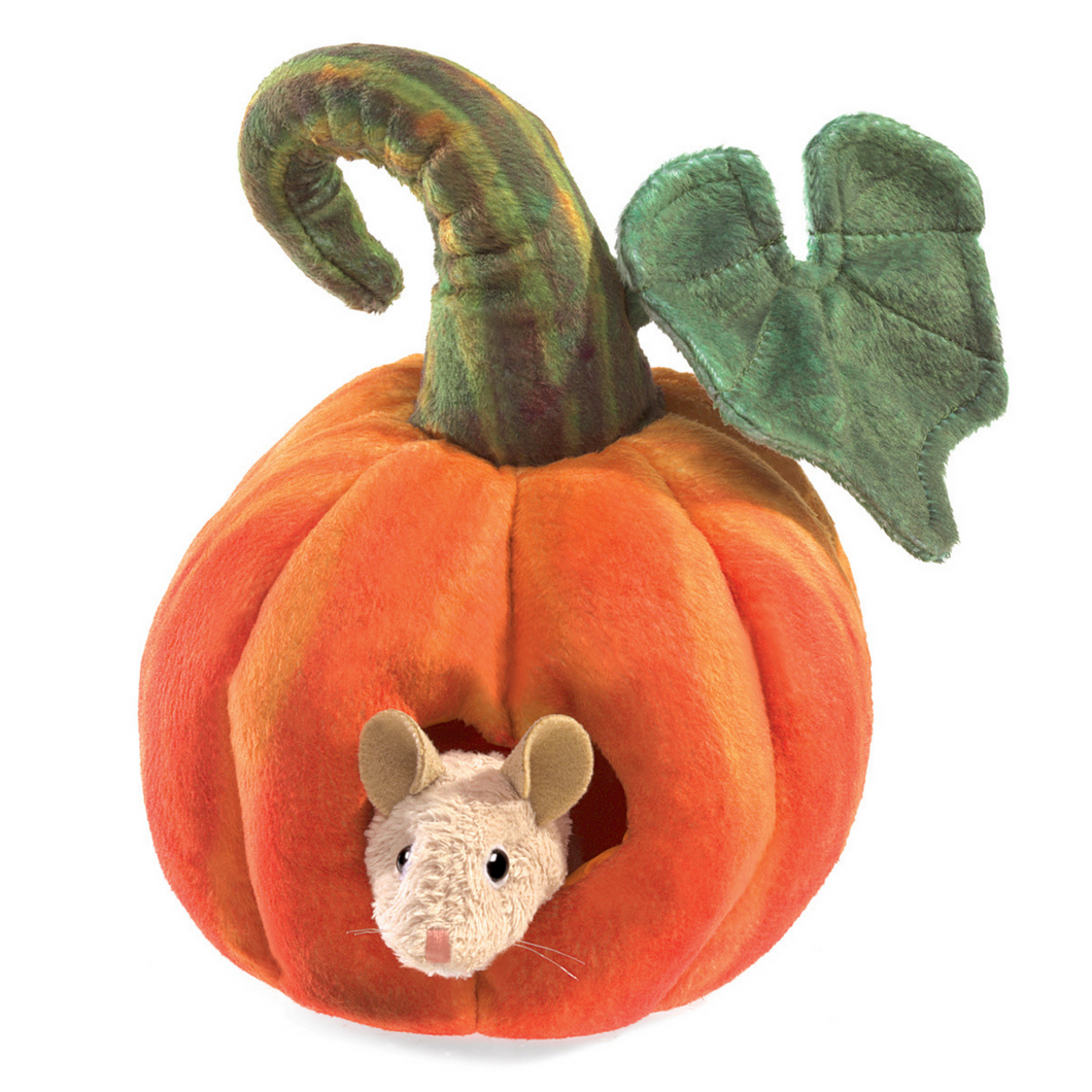 Folkmanis -  Mouse in a Pumpkin Puppet