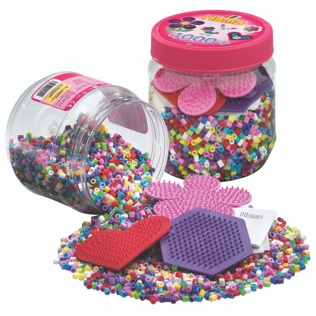 Hama Beads - Beads & Pegboards in a Tub