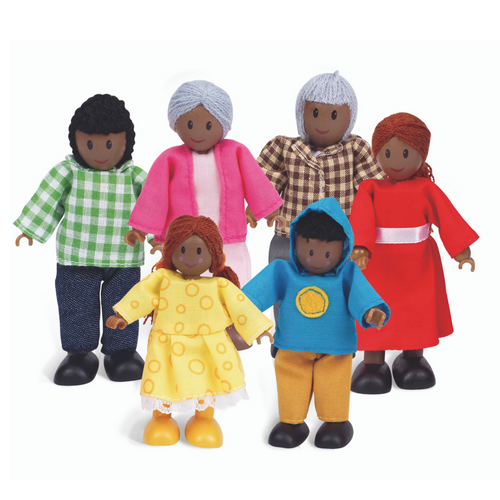 Hape - African American Happy Doll Family