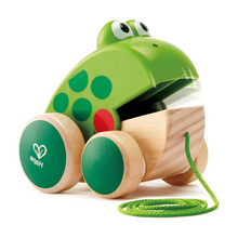Load image into Gallery viewer, Hape Frog Pull Along