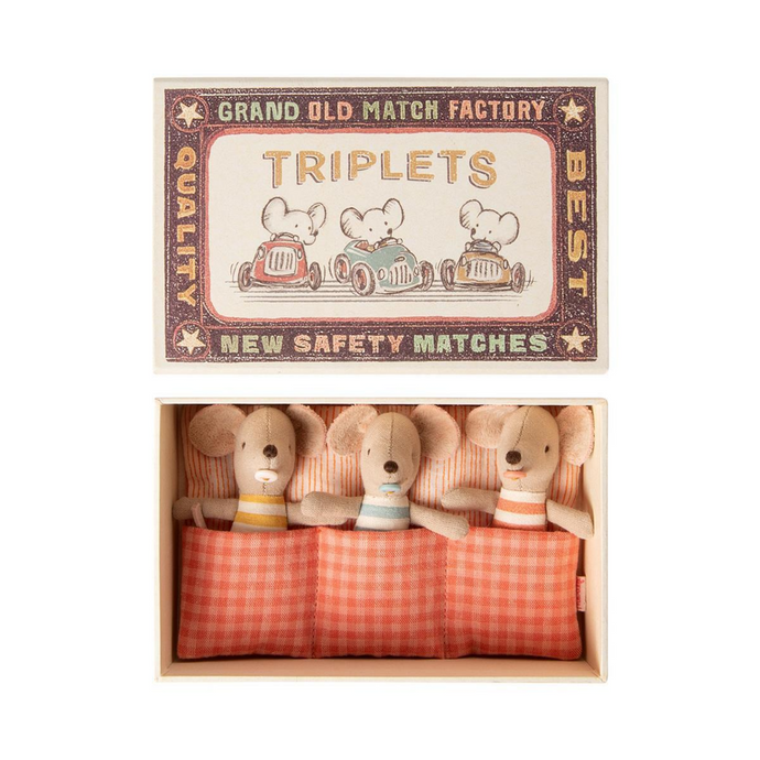Maileg - Baby Mice Triplets in Matchbox