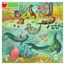 Load image into Gallery viewer, Eeboo - 1000 Piece Puzzle - Otters