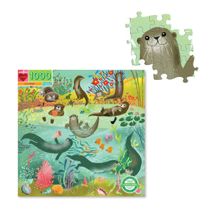 Eeboo - 1000 Piece Puzzle - Otters