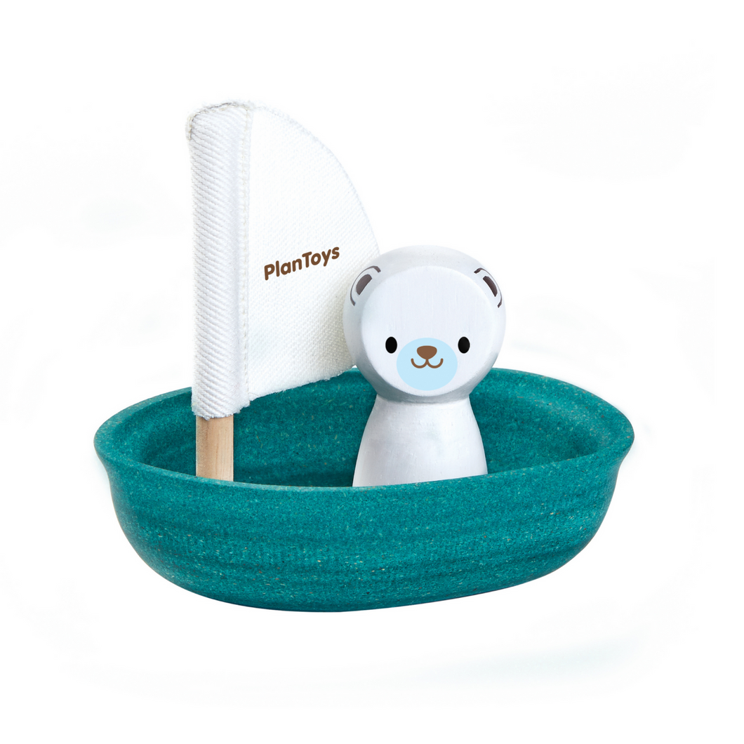 Plan Toys - Sailing Boat with Polar Bear