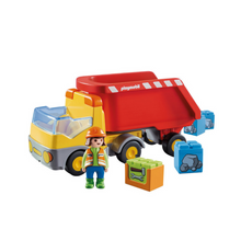 Load image into Gallery viewer, Playmobil 1-2-3 Dump Truck