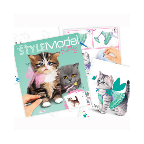 Style Model - Kitty Colouring Book