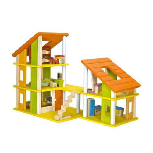 Plan Toys- Chalet Doll House With Furniture