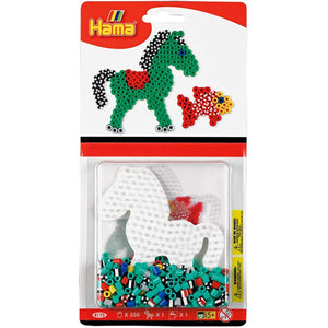 Hama Beads- Midi-Small Bead Kit Blister - Horse and Fish