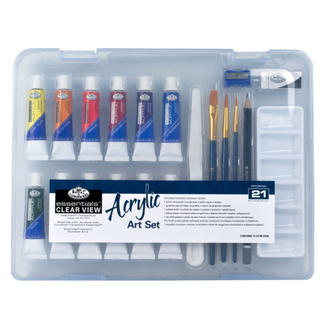Royal & Langnickel - Essentials Acrylic Art Set - 21 PC