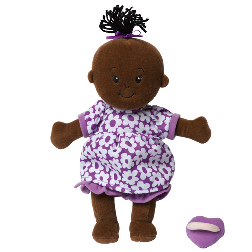 Manhattan Toy - Wee Baby Stella - Brown Doll with Black Hair