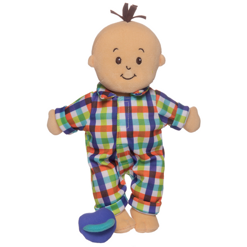 Manhattan Toy - Wee baby Stella - Peach Fella Doll with Brown Hair