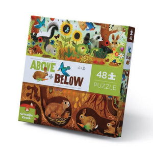 Crocodile Creek - 48 Piece Above and Below Puzzle - Backyard Discovery