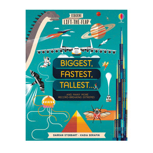Lift The Flap Biggest, Fastest, Tallest ... and Many More Record Breaking Extremes Hard Cover Book
