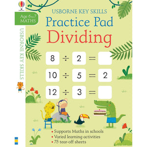 Usborne - Dividing Practice Pad - Ages: 6-7 years