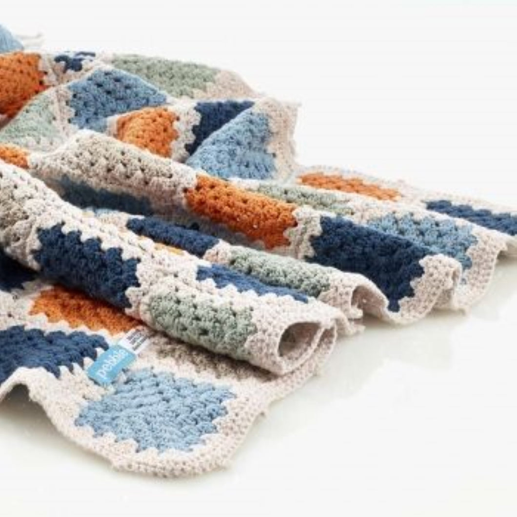Pebble Organic Cotton Baby Blanket - Teal