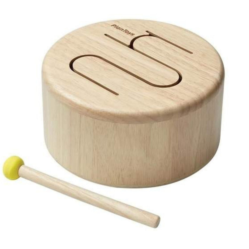 Plan Toys - Solid Drum - Natural