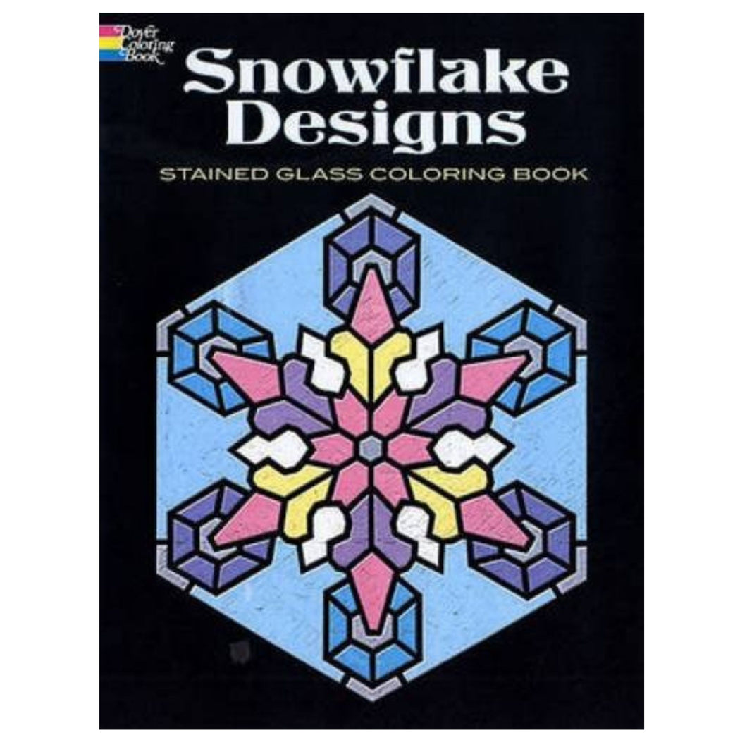 Colouring Book - Stained Glass Snowflakes Designs