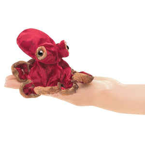 Folkmanis - Mini Red Octopus Finger Puppet