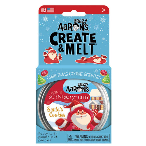 Crazy Aaron's Thinking Putty - Create And Melt - Santa's Cookies