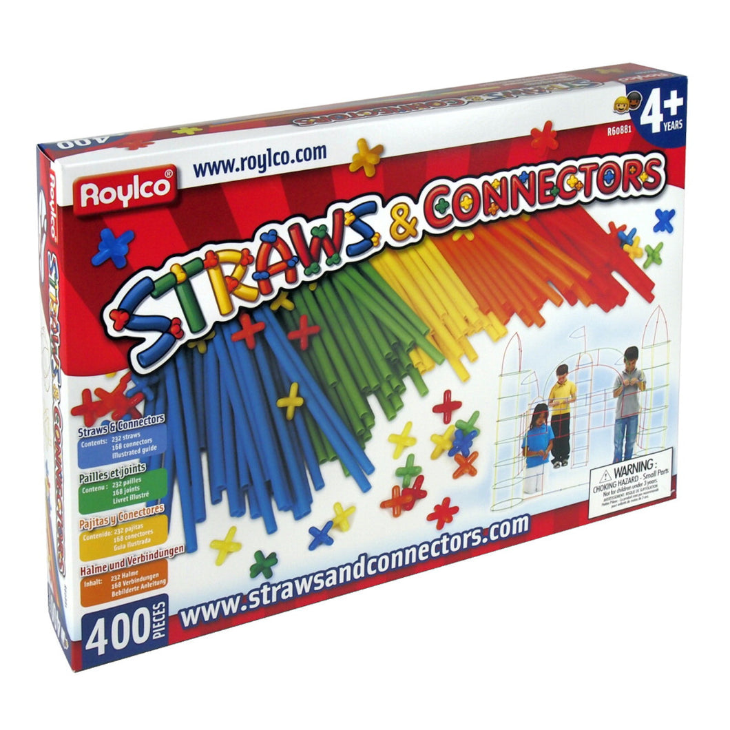 Straws and Connectors:  Creative Building Set - 400 pieces