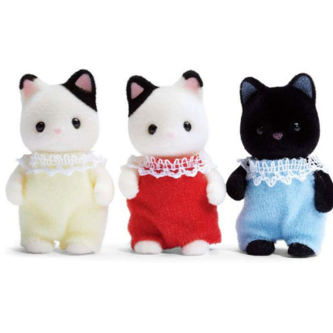 Calico Critters - Tuxedo Cat Triplets