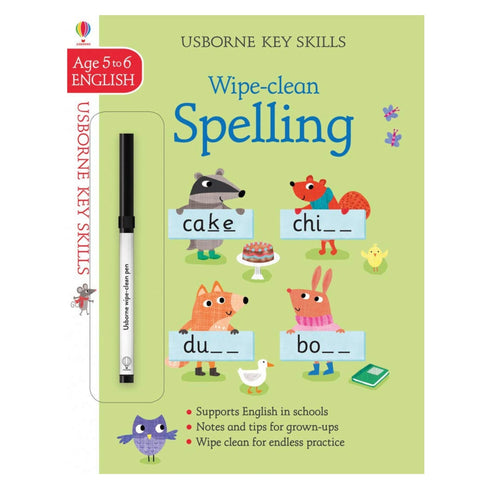 Wipe-clean Spelling Workbook